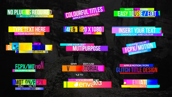 Download 91 Titles Video Templates Compatible with Final Cut Pro
