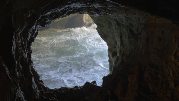 Thumbnail for Rosh Hanikra Grottoes with Rough Sea