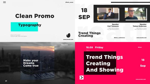 Clean Promo Typography