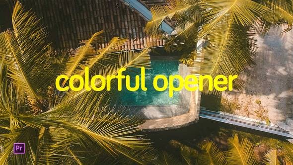 Thumbnail for Colorful Opener for Premiere Pro