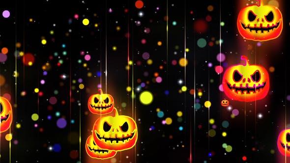 Helloween Neon Hintergrund 2