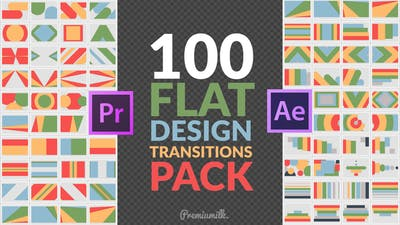 Flat Design Transitions Pack | Mogrt