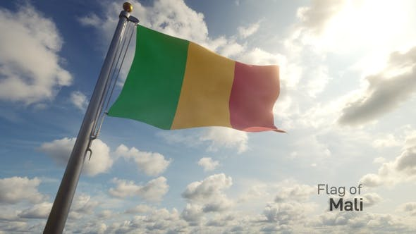 Thumbnail for Mali Flag on a Flagpole