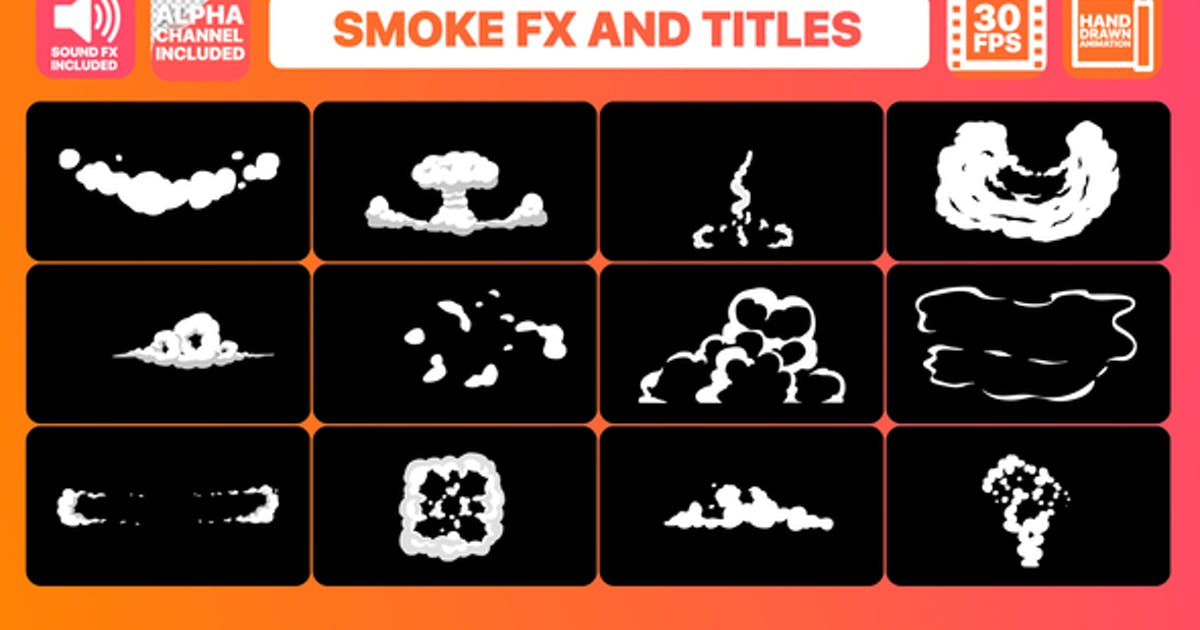 Hand Drawn Smoke FX and Titles