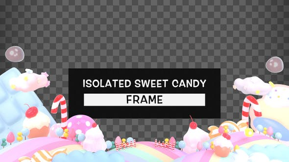 Thumbnail for Isolated Sweet Candy Frame