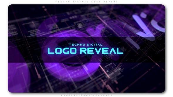 Cover Image for Techno Digital Logo Reveal