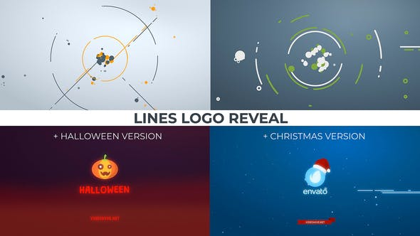 Thumbnail for Lines Logo Reveal. +Christmas/Halloween ver.
