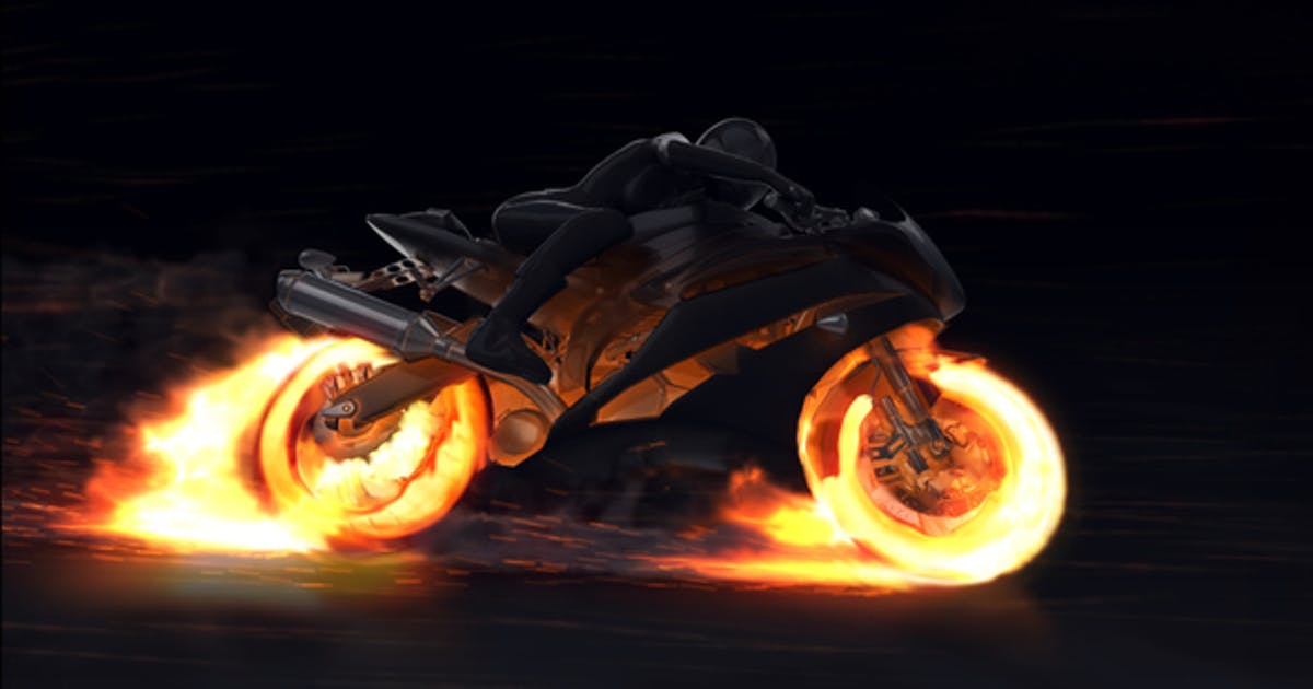 Download Motorcycle Fire Reveal by Voxyde