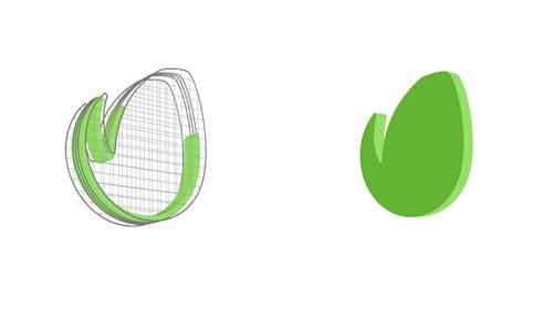 Rotating Grid Logo Reveal