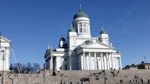 Senate Square In Helsinki Finland