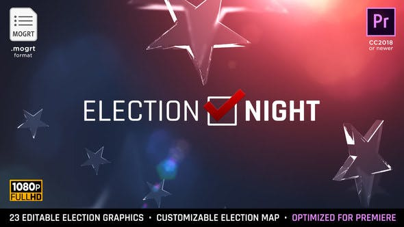 Thumbnail for Election Night 2020 | MOGRT for Premiere Pro
