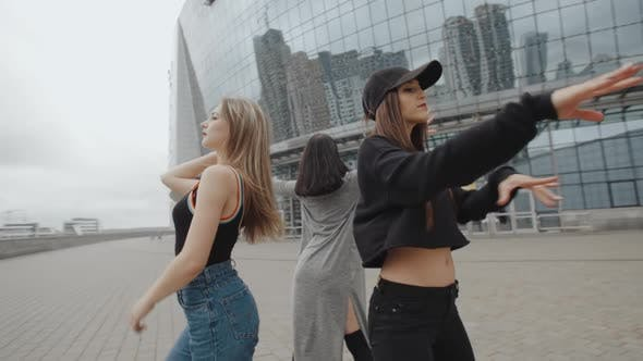 Thumbnail for Young Women Dancing Modern Hip-hop