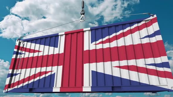 Thumbnail for Container with Flag of the United Kingdom