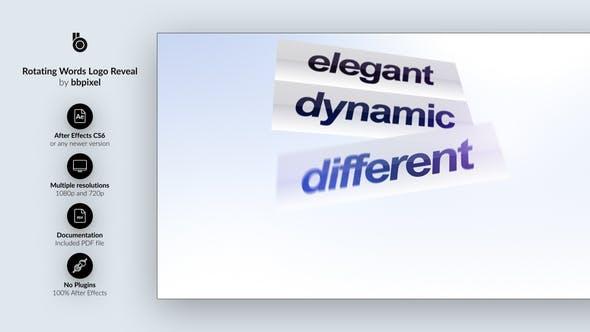 Thumbnail for Rotating Words Logo Reveal