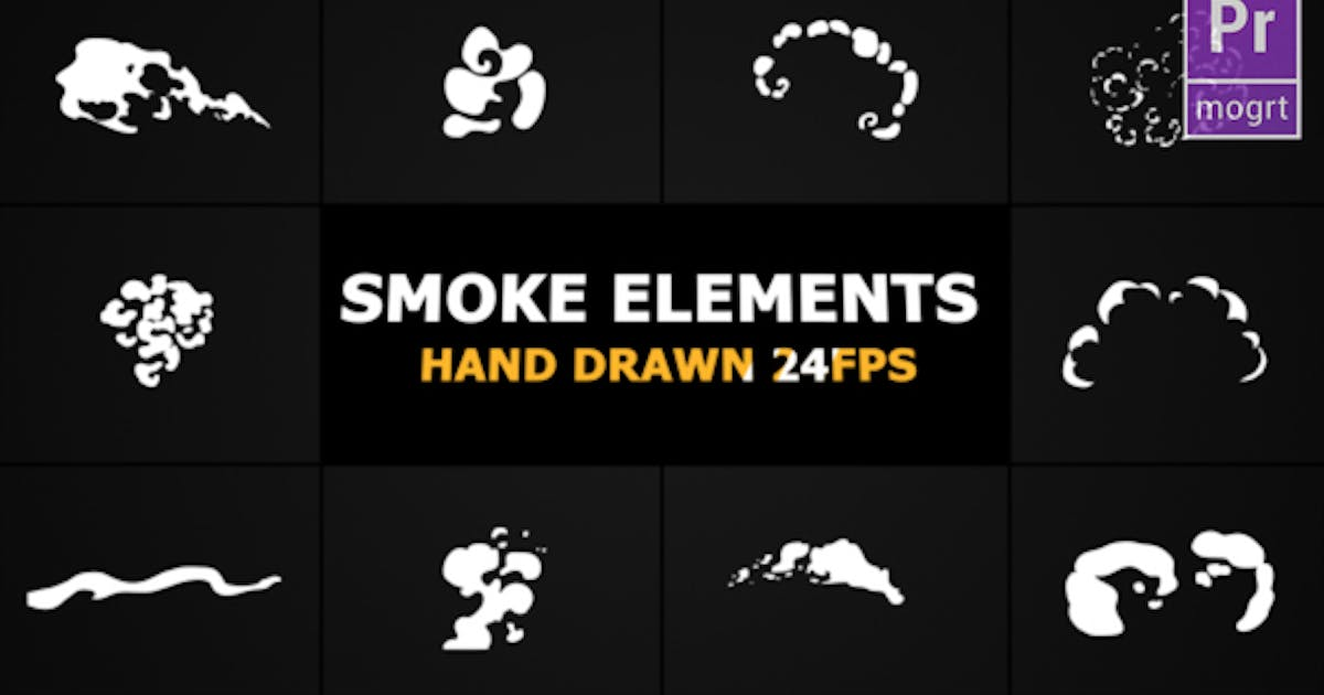Download Cartoon Smoke Elements by FlashFXbox