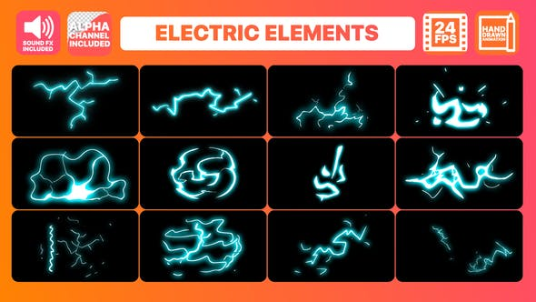 Thumbnail for Hand Drawn Electric Elements + Titles | Premiere Pro MOGRT