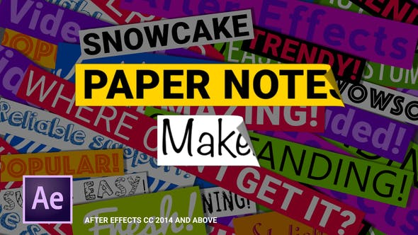 Thumbnail for Paper Notes Maker - Titles and Lower Thirds