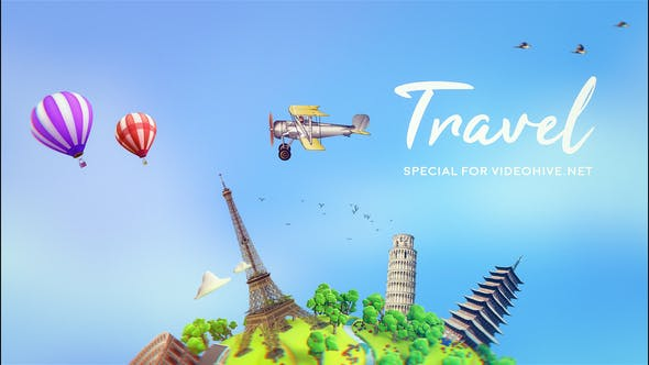 Thumbnail for Voyage | Modèle After Effects