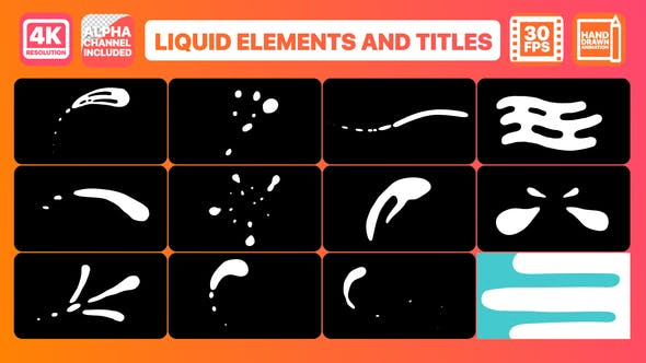 Liquid Shapes And Titles