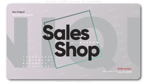 Cover Image for Sales Shop Clean Slideshow