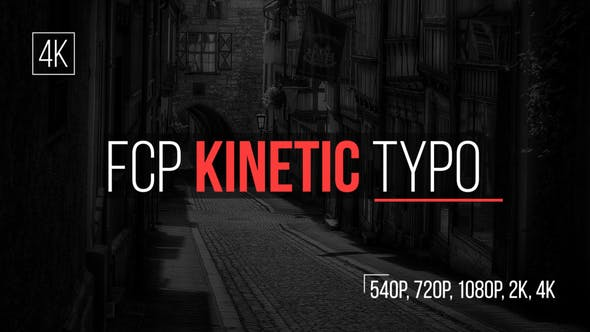 Thumbnail for Kinetic Typo FCP