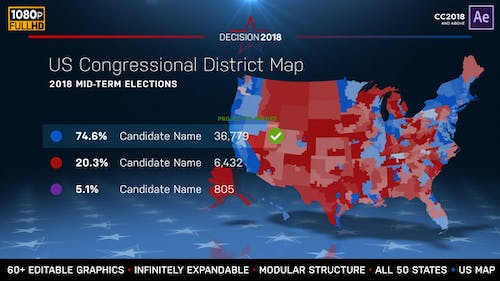 2022 Midterm Election Map | State Congressional Districts