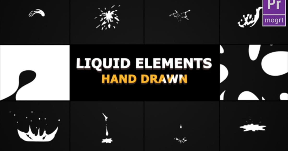 Download Hand Drawn Liquid Elements And Transitions by FlashFXbox