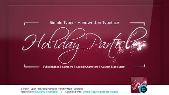 Thumbnail for Simple Typer - Holiday Particles Handwritten Typeface