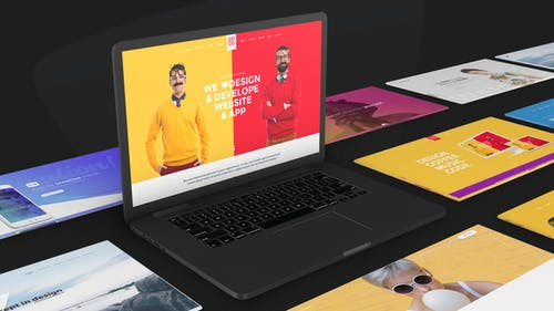 Website Promo On Macbook Device - Animated Mockup