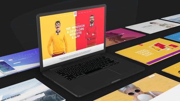 Thumbnail for Website Promo On Macbook Device - Animated Mockup