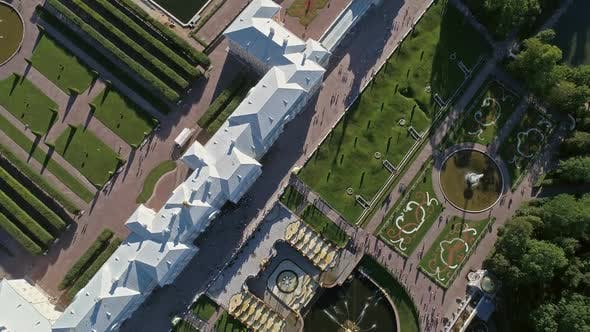 Thumbnail for Flight Over Petrodvorets Palace in Peterhof Park
