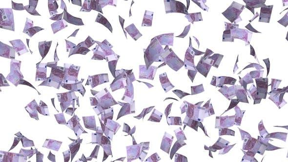 Thumbnail for Geld Euro Scheine regnen
