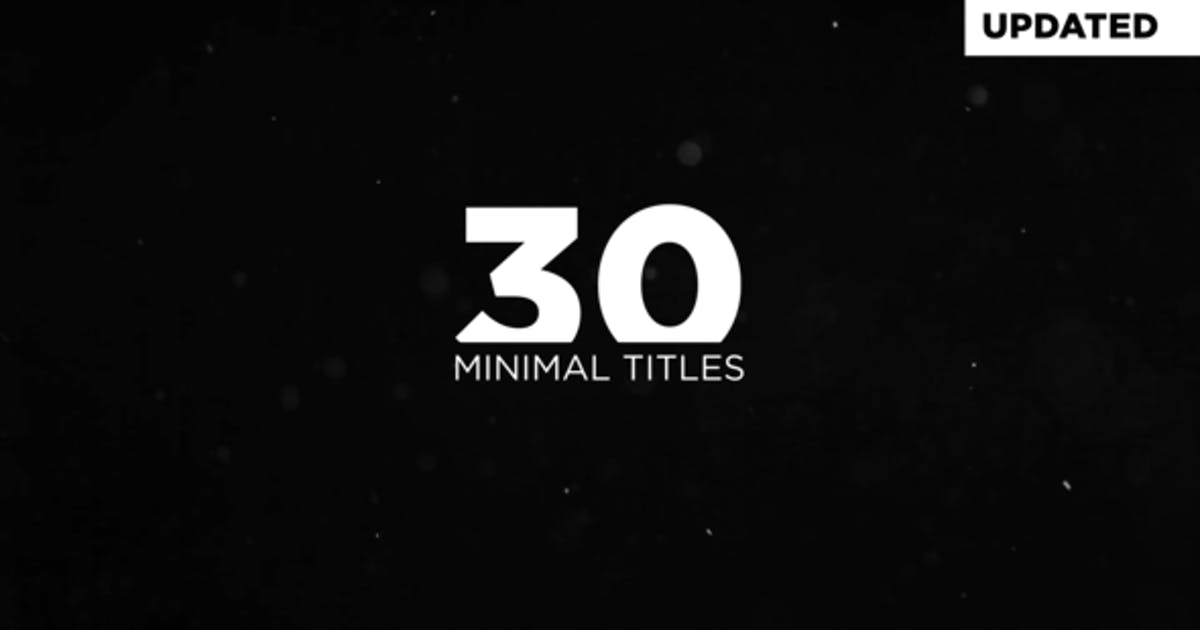 Download Minimal Titles by flikmotion