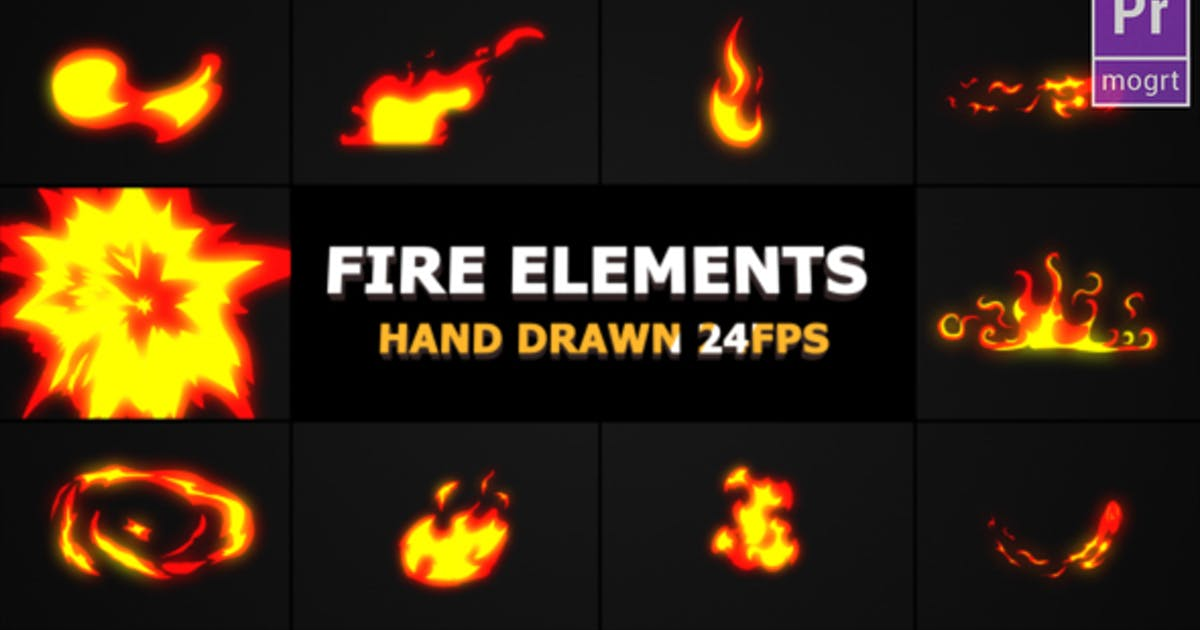 Download Hand Drawn FIRE Elements by FlashFXbox