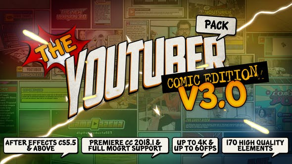 Thumbnail for The YouTuber Pack - Comic Edition V3.0