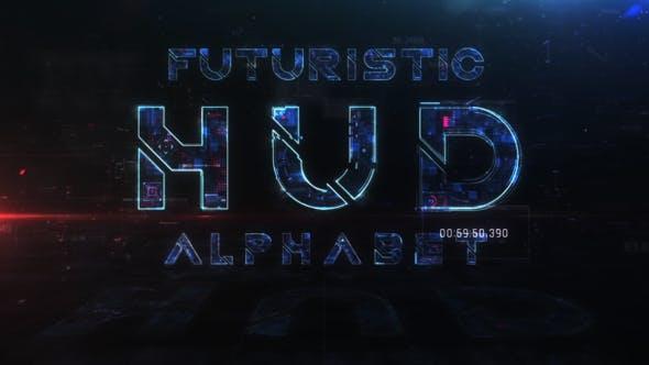 Thumbnail for Futuristic HUD Alphabet