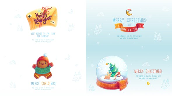 Thumbnail for Christmas and New Year Greeting Cards