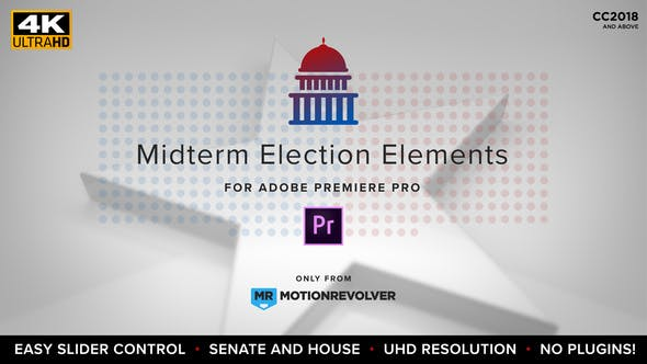 Thumbnail for Midterm Election Elements - House & Senate | MOGRT for Premiere Pro