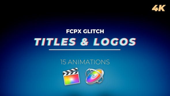 Thumbnail for FCPX Glitch Titles and Logos