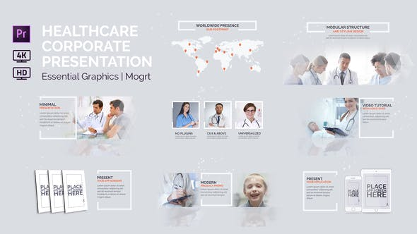 Thumbnail for Healthcare Corporate Presentation | Essential Graphics | Mogrt