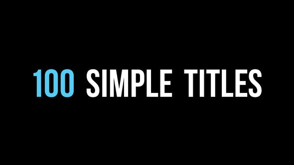Thumbnail for 100 Simple Titles