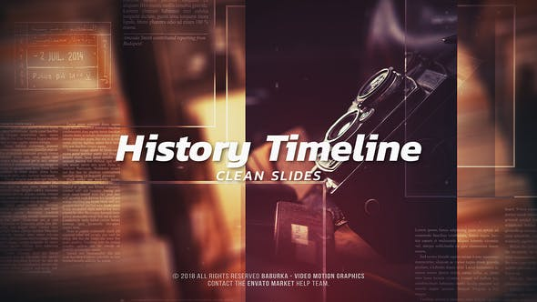 Cover Image for History Timeline - Clean Slides