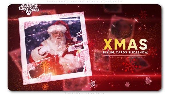 Thumbnail for Christmas Flying Cards Slideshow