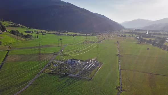 Thumbnail for Aerial View of High Voltage Power Line
