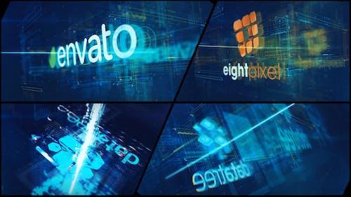 High Tech Logo V09 Electric Glitch