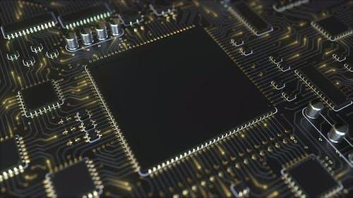 Black Printed Circuit Board