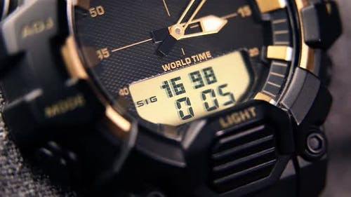 Tactical Digital Watch Operation