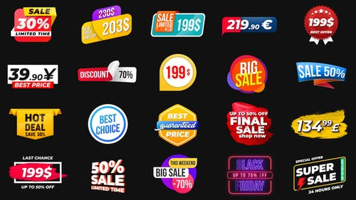 Animated Labels & Prices