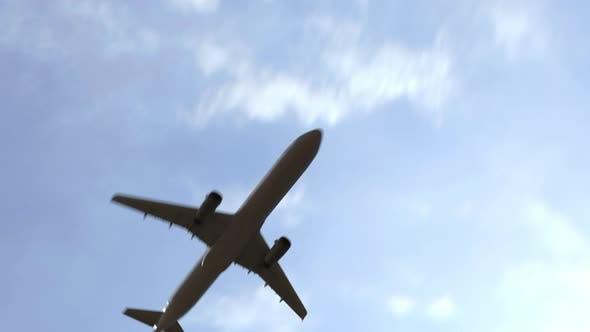 Airliner Arrives in Stuttgart Germany