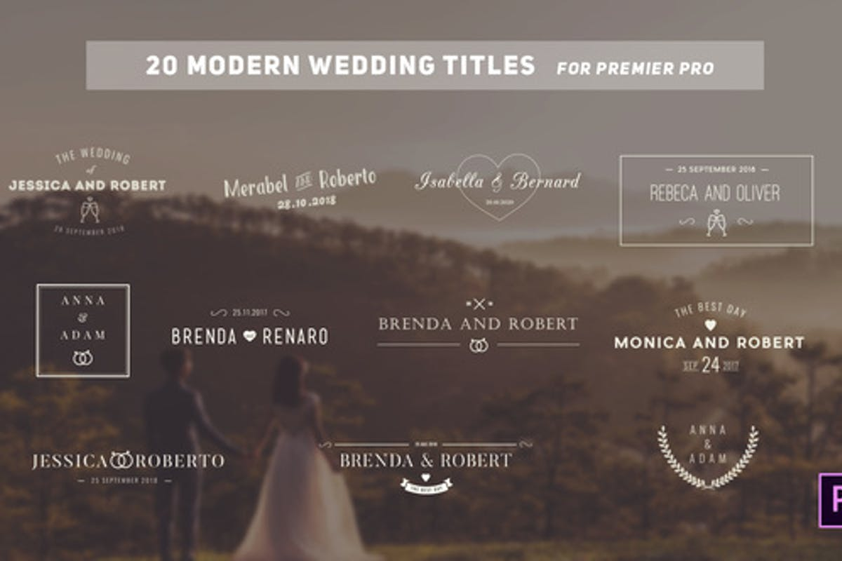 """55 """"wedding"""" Video Templates Compatible with Adobe Premiere Pro"""